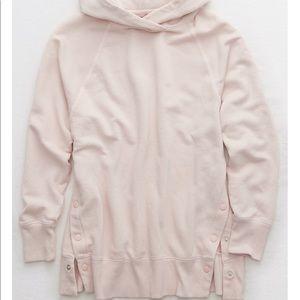 NWOT Aerie snap city hoodie sweater